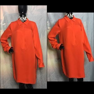 Vince Orange LS Dress